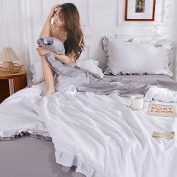 眠博士 2020新款水洗棉夏被四件套 牛奶白