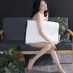 一粒麦子 2020新款双拼针织乳胶枕套~白色40*60cm