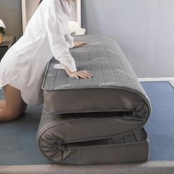 匈丽家纺 2020新款针织棉乳胶+硬质棉床垫羽毛灰9.5厘米