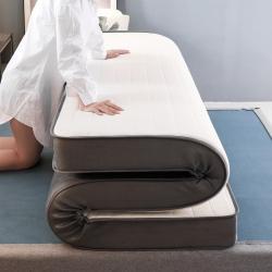 匈丽家纺 2020新款针织棉乳胶+硬质棉床垫 白色9.5厘米