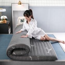 匈丽家纺 2020新款针织棉加硬质棉床垫 针织鹿角灰