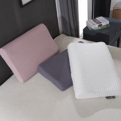 一粒麦子 2020新款水洗全棉方格乳胶枕