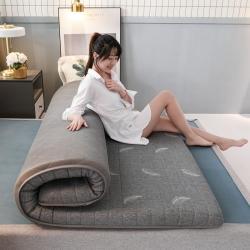 匈丽家纺 2020新款针织棉乳胶+硬质棉床垫 羽毛灰 6厘米