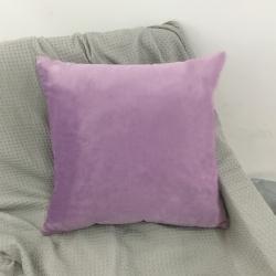 丽彩 2020新款纯色荷兰绒抱枕套 紫色