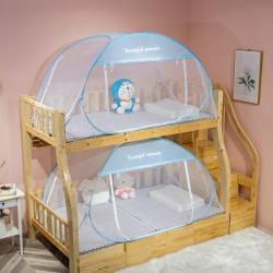 免安裝兒童子母床蚊帳蒙古包上下鋪宿舍0.9/1.2m拉鏈加密