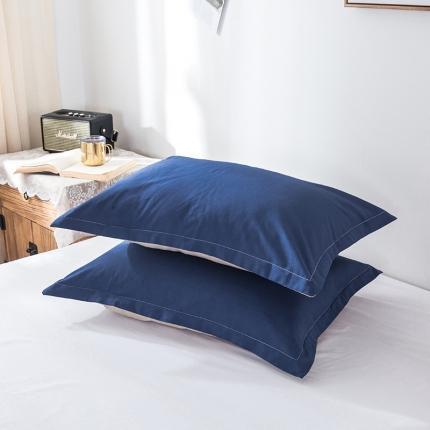 (总)映爽家纺 2020全棉纯色枕套一对装
