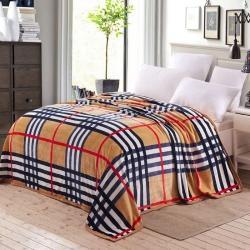 九州星 2020新款260克加厚包邊款毛毯網銷贈品毛毯 巴寶莉