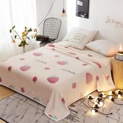 九州星 2020新款260克加厚包邊款毛毯網銷贈品毛毯 草莓朵朵