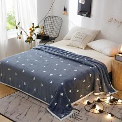 九州星 2020新款260克加厚包邊款毛毯網銷贈品毛毯 經典三角灰