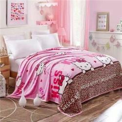 九州星 2020新款260克加厚包邊款毛毯網銷贈品毛毯 貓咪