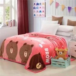 九州星 2020新款260克加厚包邊款毛毯網銷贈品毛毯 萌萌熊