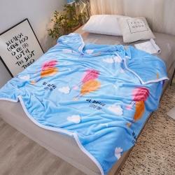 九州星 2020新款260克加厚包邊款毛毯網銷贈品毛毯 熱氣球