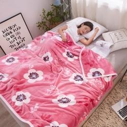 九州星 2020新款260克加厚包邊款毛毯網銷贈品毛毯 盛世花開