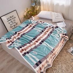 九州星 2020新款260克加厚包邊款毛毯網銷贈品毛毯 時尚格調