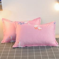 (總3)漫仙閣 2020新款親膚棉蘆薈棉單品枕套一對