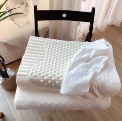 她喜爱枕芯枕头 泰国天然乳胶枕头乳胶枕芯曲线波浪按摩颗粒枕