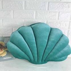 睡貨 2020新款貝殼抱枕 橄欖綠