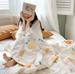 (總)四方米 2020新款全棉親膚印花夏涼被