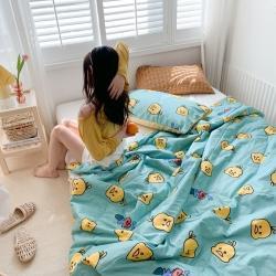 四方米 2020新款全棉親膚印花夏涼被 小黃鴨 藍