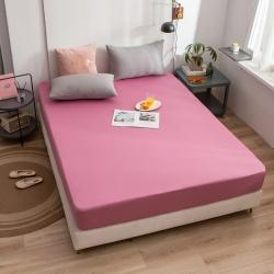 (總)蘭紫橙家紡 2020新款40s長絨棉純色床笠