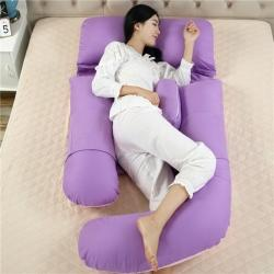 好孕家紡 2020新款G型孕婦枕 紫粉雙拼