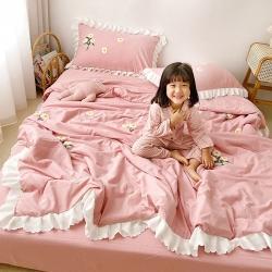 (总)一加一家纺 21年小雏菊毛巾绣夏被四件套