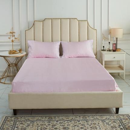 柒月家居 2020新款纯色冰丝席床笠款 粉色