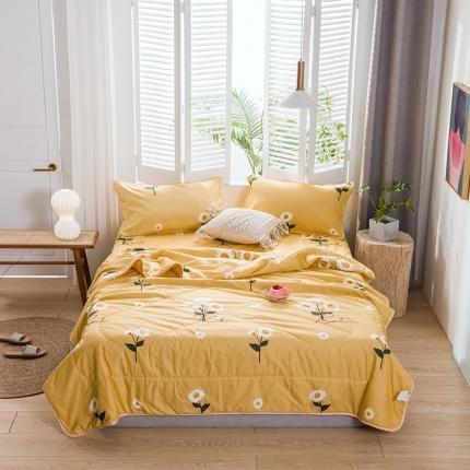 卡斯诺家纺馆 2020新品夏被四件套 向日葵