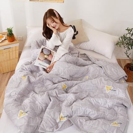 新款水洗棉夏凉被空调被可水洗可折叠印花床上用品 律动人心
