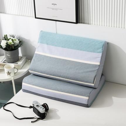 2020 全棉乳胶枕套一对装 安德里亚蓝
