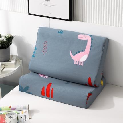 2020 全棉乳胶枕套一对装 精灵小恐龙