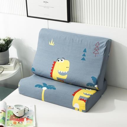 2020 全棉乳胶枕套一对装 快乐小恐龙