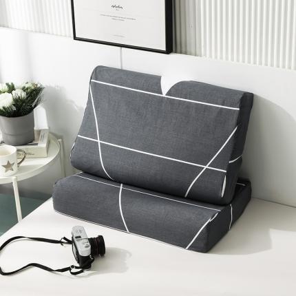 2020 全棉乳胶枕套一对装 麦维斯灰