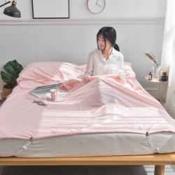 (总)西西家居 2021新款13372全棉隔脏睡袋纯色款