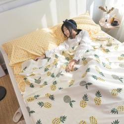 西西家居 2021新款13372全棉隔脏睡袋印花款 菠萝