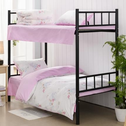美真宝贝 大学生上下铺宿舍床三件套多件套被芯床垫 美丽心灵
