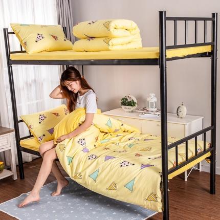 美真宝贝 大学生上下铺宿舍床三件套多件套被芯床垫 青春1