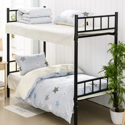 美真宝贝 大学生上下铺宿舍床三件套多件套被芯床垫 童话(灰)