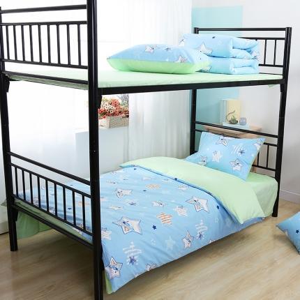 美真宝贝 大学生上下铺宿舍床三件套多件套被芯床垫 童话(兰)