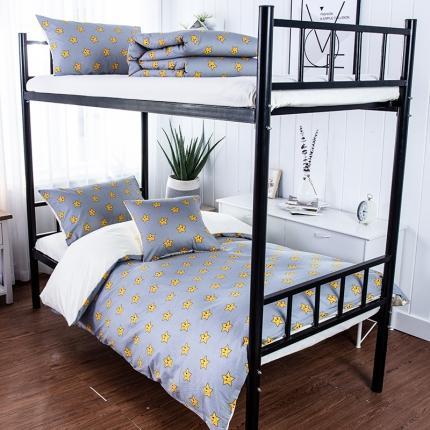 美真宝贝 大学生上下铺宿舍床三件套多件套被芯床垫 微笑星辰