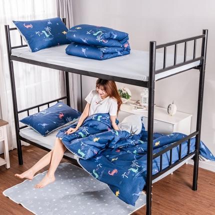美真宝贝 大学生上下铺宿舍床三件套多件套被芯床垫 侏罗纪
