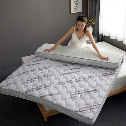 钻爱床垫 2021新款升级款乳胶记忆棉床垫 梦幻条纹