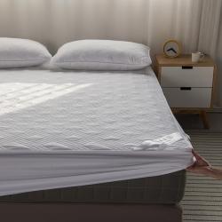 (总)豪选家纺 2020新款纯棉床罩席保护套床垫夹棉床笠