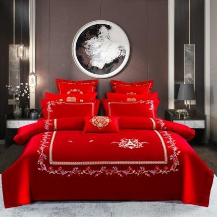 喜洋洋婚庆专供 40S全棉婚庆四件套床单款 浪漫巴黎