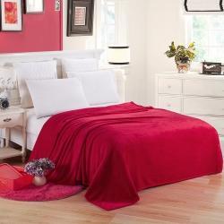 (总)素素 素色活性印染珊瑚绒毛毯超柔四季毯 夏凉盖毯礼品毯
