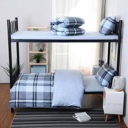 (总)美真0.9床学生单人宿舍1.2米床纯棉上下铺全棉三件套