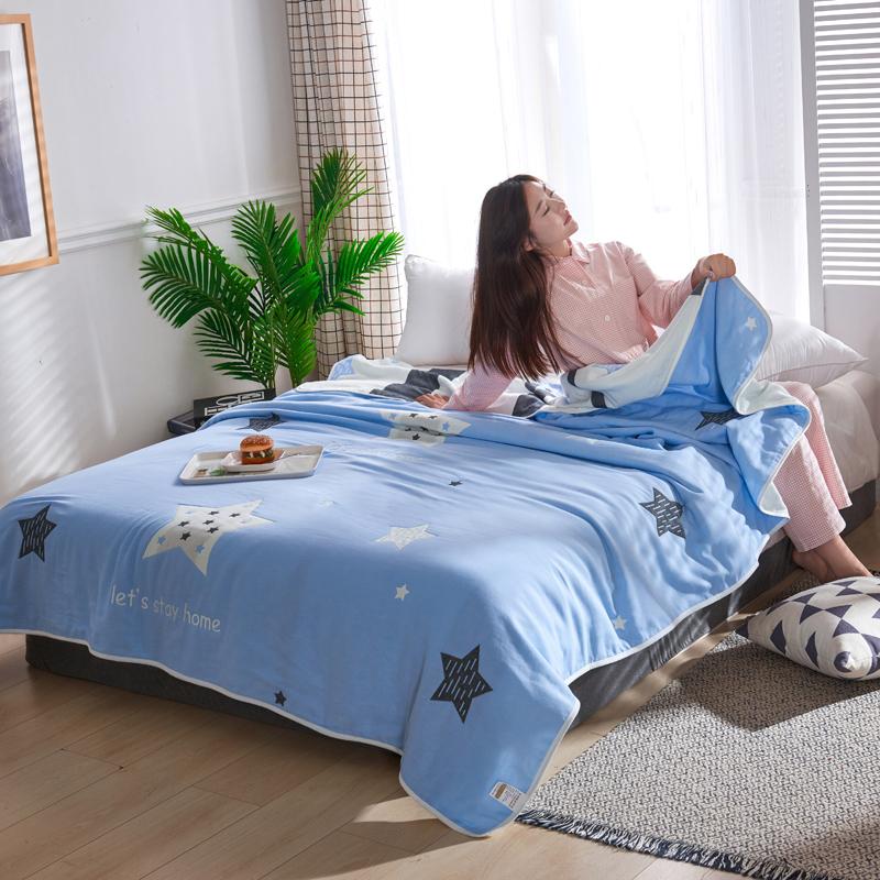 专利大版花全棉六层纱布毛巾被夏被盖毯子空调被心愿