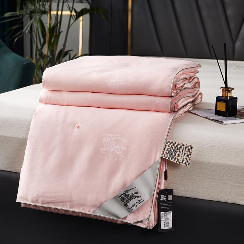 巴伯瑞 纯手工订花蚕丝夏被 春秋被 冬被批发量大优惠含包装 粉红色