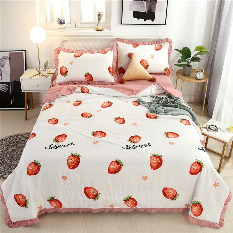 多诗曼 2020新款莱卡棉夏被四件套 小草莓