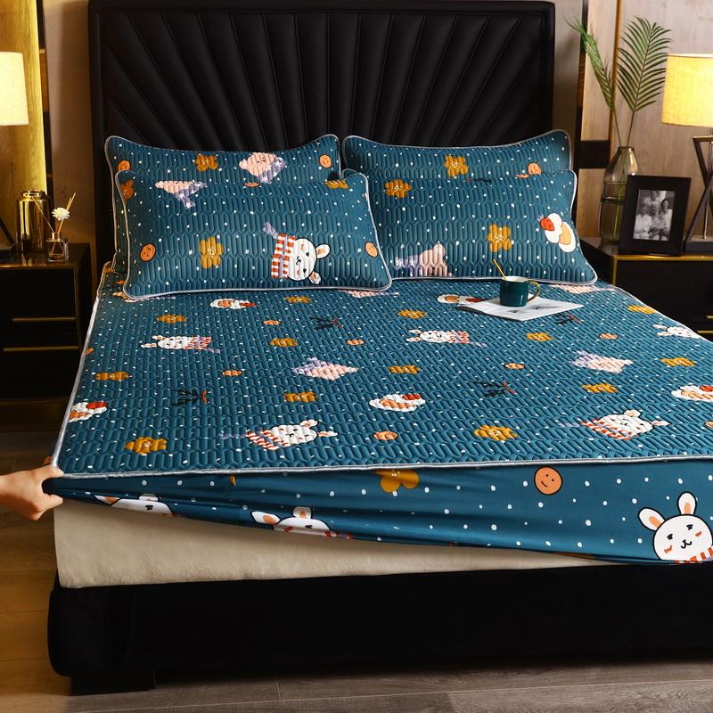 爱思凯2020款凉感丝乳胶凉席床笠三件套乳胶床笠 小兔